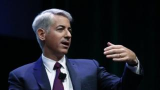 Hedge fund manager Bill Ackman speaking in his presentation to investors 22 July 14
