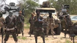 A screen grab from Boko Haram video released in July 2014