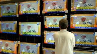 Narendra Modi on TV
