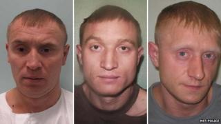 Brothers Viktoras Tarasov, Valodia Tarasov and Jurius Tarasov