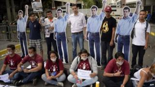 Supporters of detained opposition leader Leopoldo Lopez, Caracas, 23 July