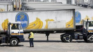 Chiquita trucks were seen in Gulfport, Mississippi, on 28 August 2008