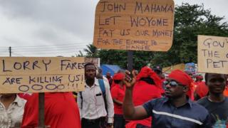Protesters in Accra, Ghana - Thursday 24 July 2014