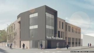 Artist's impression of the new Temple Fire Station