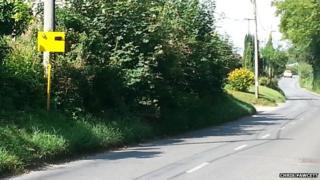Fake speed camera on Shrewton road
