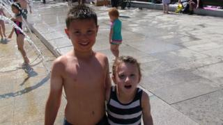 Kids in the sun