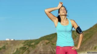 Image of female exercising