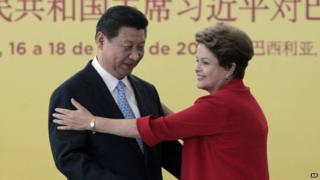 China's Xi Jinping and Dilma Rousseff in Brazil in July