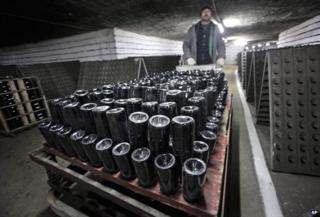 Bottles at Cricova