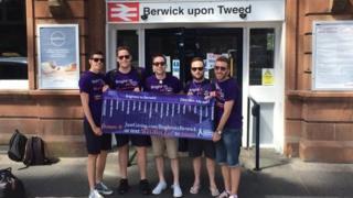 The group at Berwick-upon-Tweed