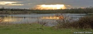 Blue Lagoon lake near Bletchley