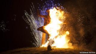 Burning wicker man
