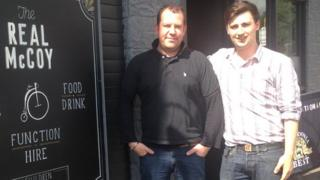 Manager of the Real McCoy Alex Hannah and barman Daniel Syme
