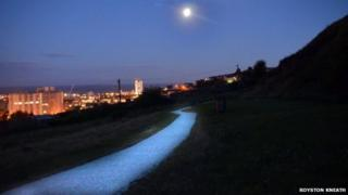 Path through Bryn-y-Don Park, Swansea