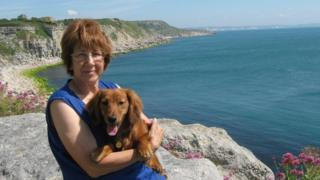 Janice Short and her dog Toby