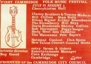 The first Cambridge Folk Festival poster