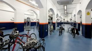 Leicester bike hub at rail station