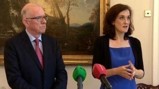 Charlie Flanagan and Theresa Villiers