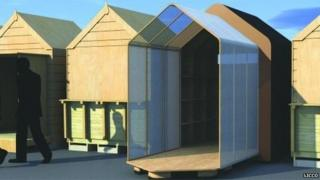 Artist's impression of the new hut