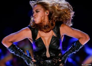Beyonce performs at the Super Bowl