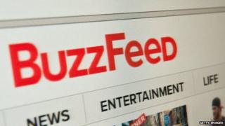 The index page of BuzzFeed.