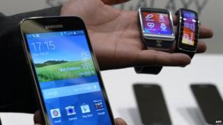 Samsung gadgets on display