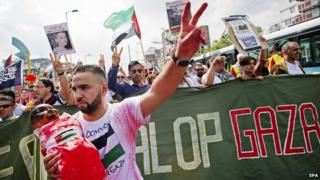 Gaza solidarity rally in Rotterdam, 27 July 14
