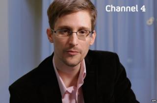 Edward Snowden on the UK's Channel Four News, 24 December 2013