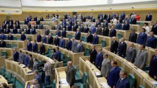 Russia's parliament has voted through a series of internet laws