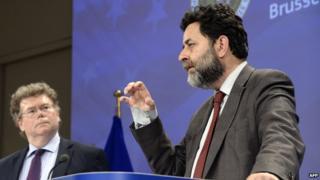 TTIP negotiators from US (left) and EU