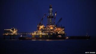 Oil platform in Russia
