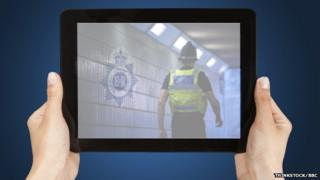 Tablet with image of Gwent Police