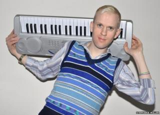 Holding a keyboard