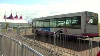 Bus at Llanelli eisteddfod