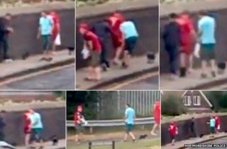 The video, which was posted on a social networking site, is being treated as a 'matter of urgency' by police.