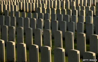 War graves at Ypres, Belgium