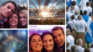Montage of social media photos
