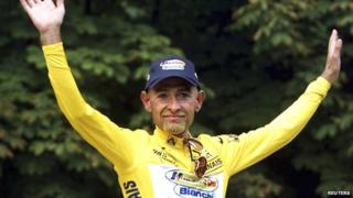 Tour de France winner Marco Pantani during the Tour de France in 1998