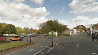 Sky Blue Way Gosford Street junction