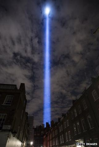 Spectra seen over the London night sky