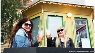 Britt Kramvig and Marry Ailonieida Somby at Raketten