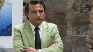 Francesco Schettino, the captain of the capsized cruise ship Costa Concordia attends a meeting in Rome on 10 July 2014.