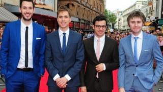 Inbetweeners stars Blake Harrison, Joe Thomas, Simon Bird and James Buckley