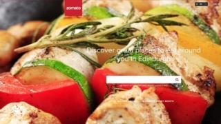 Zomato website