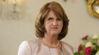 Irish Deputy Prime Minister (Tánaiste) and Minister for Social Protect, Joan Burton