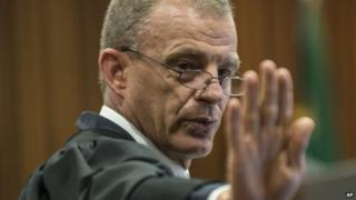 Prosecutor Gerrie Nel in court, Pretoria, South Africa - 7 August 2014