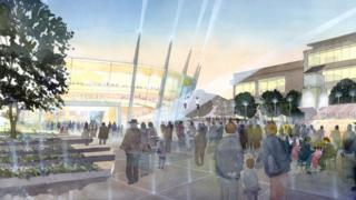 Artist's impression of the Bristol Arena
