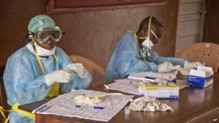 The Ebola outbreak is centred on Liberia, Sierra Leone and Guinea