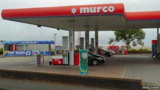 Murco petrol station in Swansea