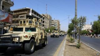 Armoured vehicles on Baghdad street - 11 August